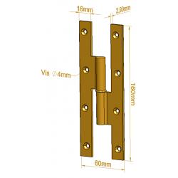 Paumelle Picarde - 160 mm - Paumelles de Bâtiment