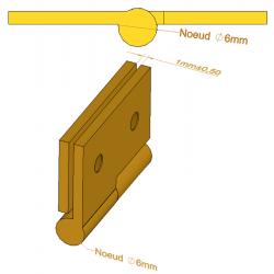 Paumelle de meuble - 30 mm - Paumelles