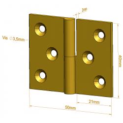 Paumelle de meuble - 40 mm - Paumelles