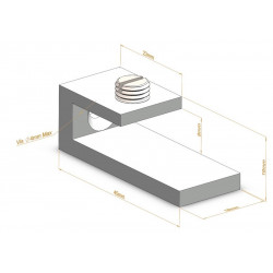 Support d'étagère C Asymétrique - Fixations d'étagères
