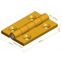 Charnière - Longueur 30 mm - Charnières