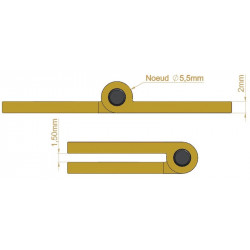 Charnière - Longueur 80 mm - Charnières