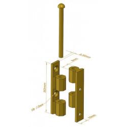 Charnière Universelle noeud à pans - 50 mm - Charnières