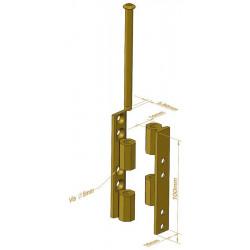 Charnière Universelle noeud à pans - 100 mm - Charnières