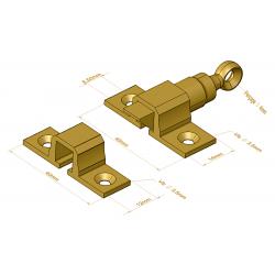 Loqueteau de vasistas à oeil - Verrous / Loqueteaux / Targettes
